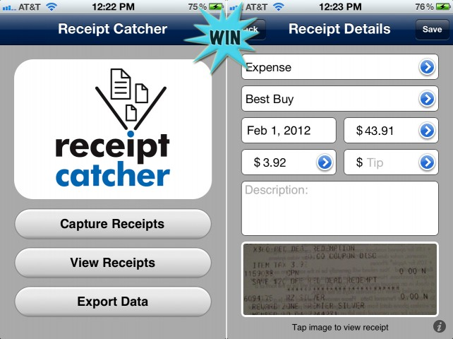 A Chance To Win Receipt Catcher For iPhone