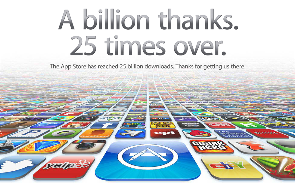 Apple App Store: 25 Billion Apps Served