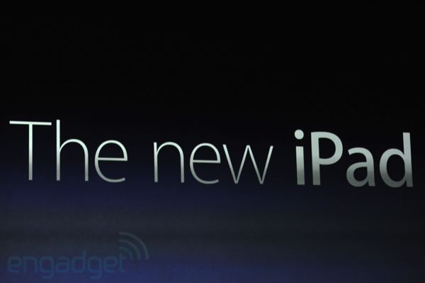 Apple Drops The Numbers And Letters, Calls iPad 3 'The New iPad'