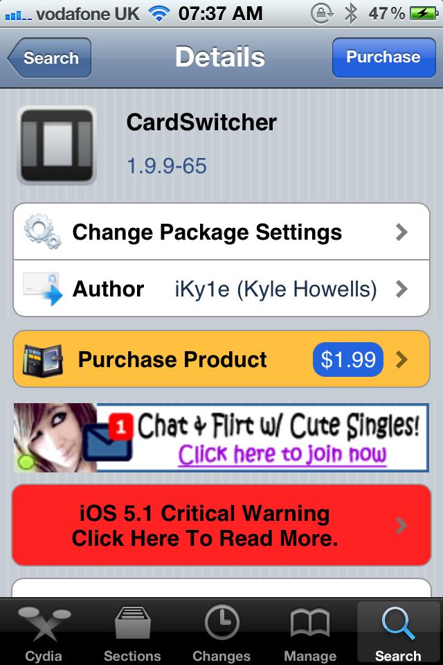 Jailbreak Only: CardSwitcher 2.0 - An Impressive Alternative App Switcher