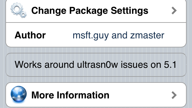 Jailbreak Only: Ultrasn0w Fixer - Unlock Solution For iOS 5.1