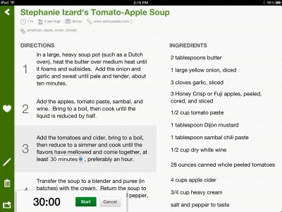 Basil - A Great New Recipe Manager For Your iPad