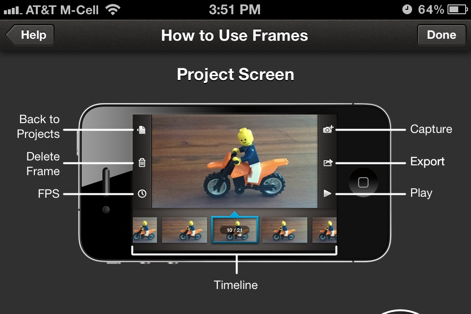 Create Stop Motion Or Time Lapse Movies With Frames