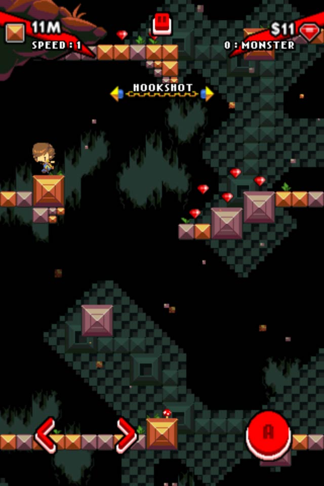 Help Tobe Escape The Crumbling Cave In This Endless Vertical