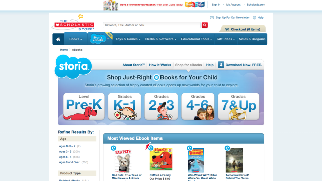 Scholastic Is Bringing E-Books To Children With Storia