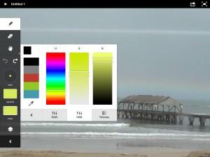 Adobe Ideas version 1.6 (iPad 2) - Colors (HSB)