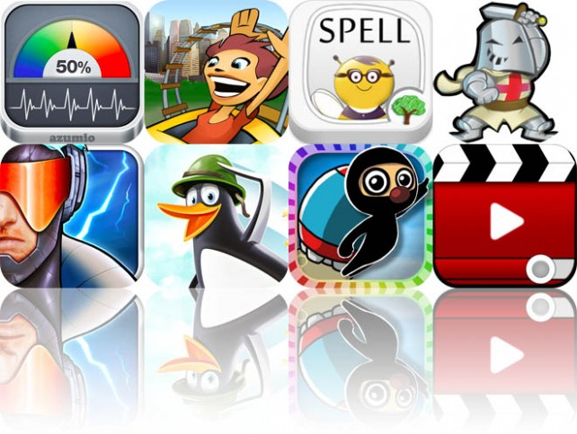 Today's Apps Gone Free: Stress Check, New York 3D Rollercoaster Rush, Spell Plus Friends, And More