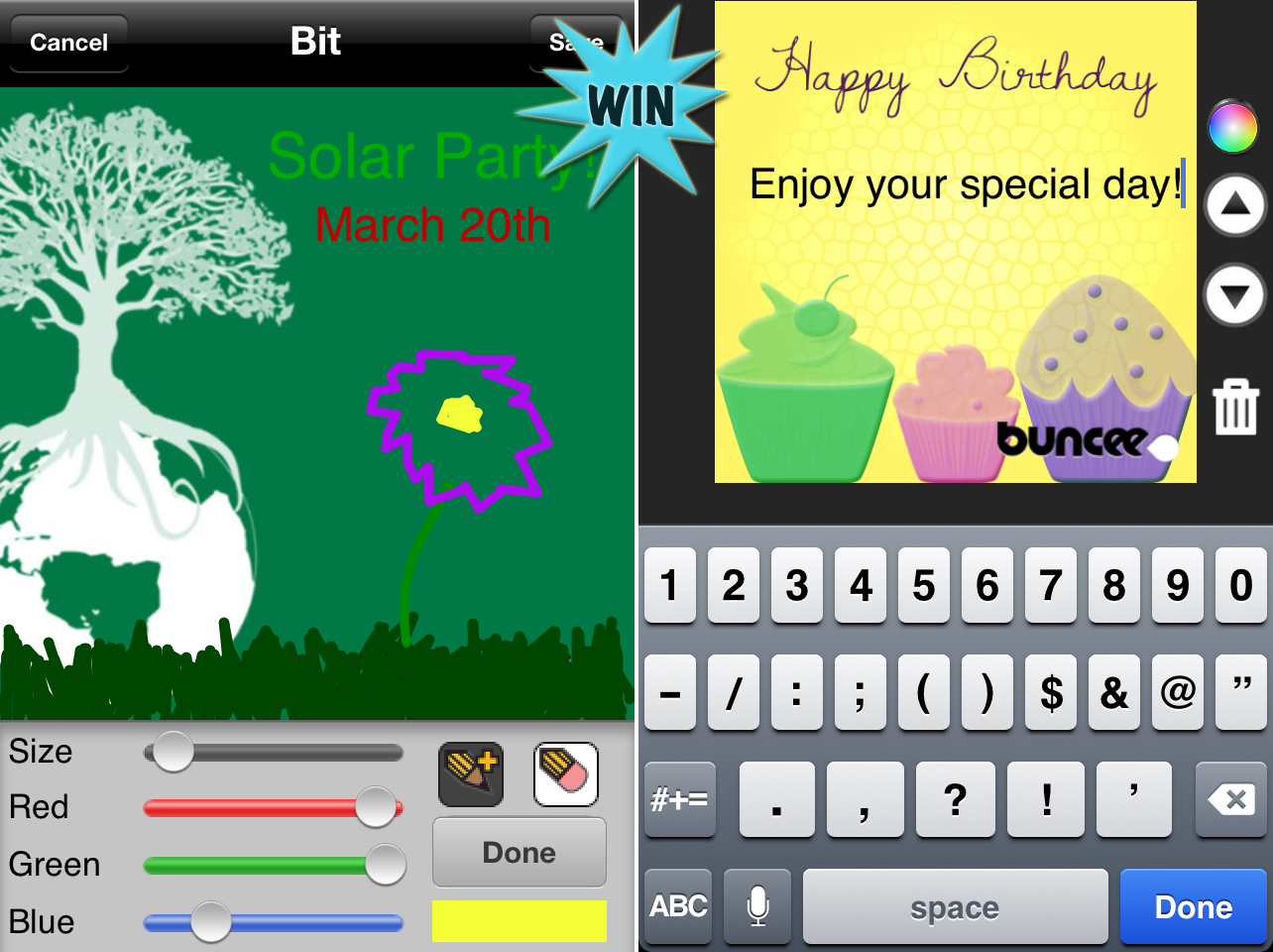 A Chance To Win Buncee Bits For iPhone And iPad