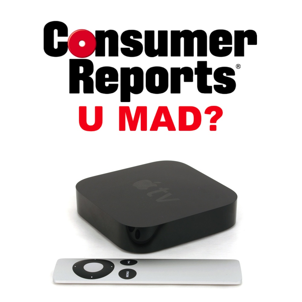 Consumer Reports Has Crazy Issues With Apple TV, Clearly Doesn't 'Get' Apple