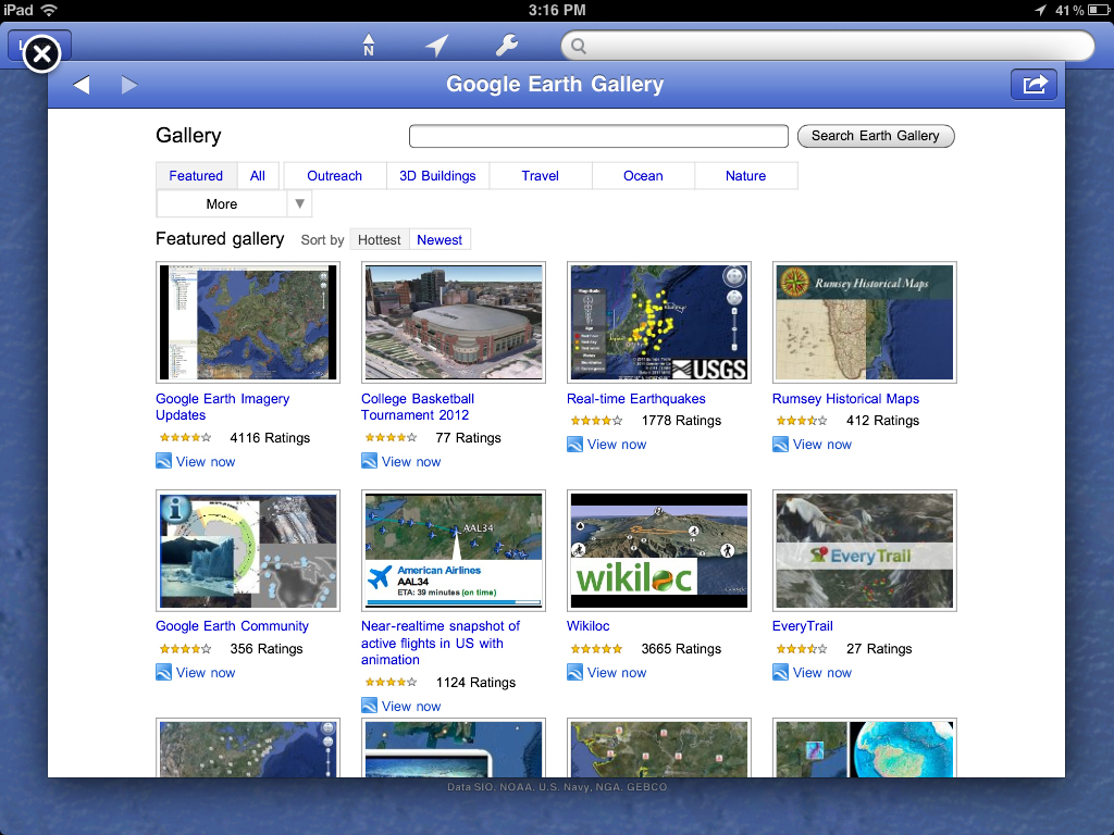 Google Adds Earth Gallery And Tours, Plus Makes Improvements To The Google Earth iOS App