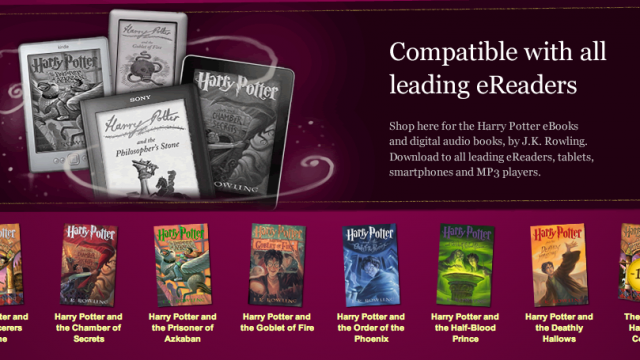All Seven Harry Potter Titles Finally Arrive On E-Readers, Smart Phones