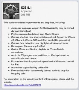 Apple Releasing iOS 5.1 To Existing Customers