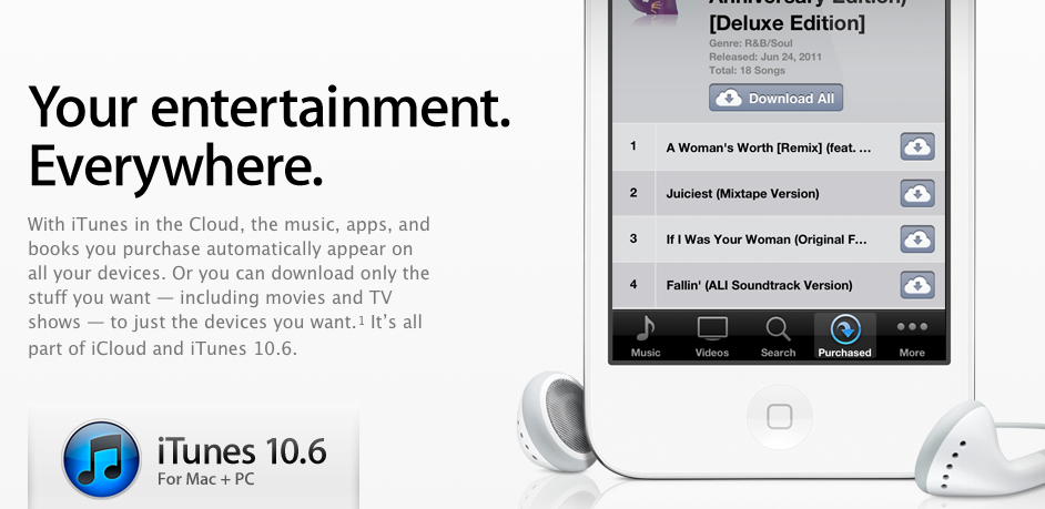 Apple Offers New Audio Bitrates In iTunes 10.6