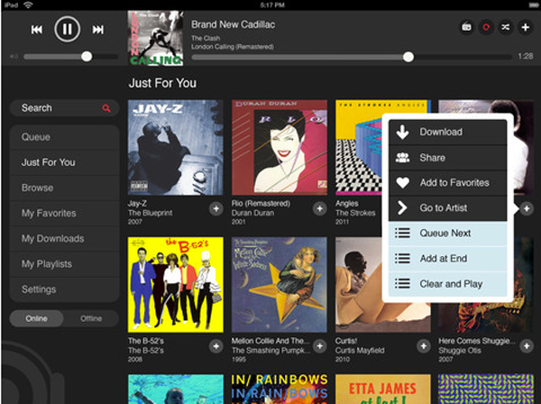 MOG Becomes Third Streaming Service To Offer iPad App