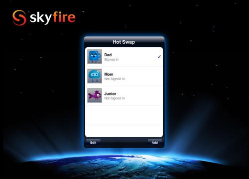 Skyfire For iPad Update Features Ability For Multiple Accounts