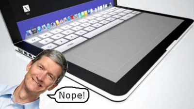 Apple's CEO Doesn't Think An iPad-MacBook Mashup Is In Cupertino's Cards