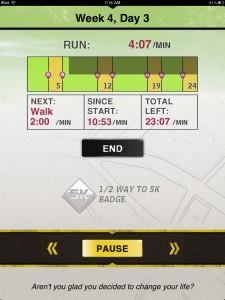 5K Runner version 3.0 (iPad 2) - Workout