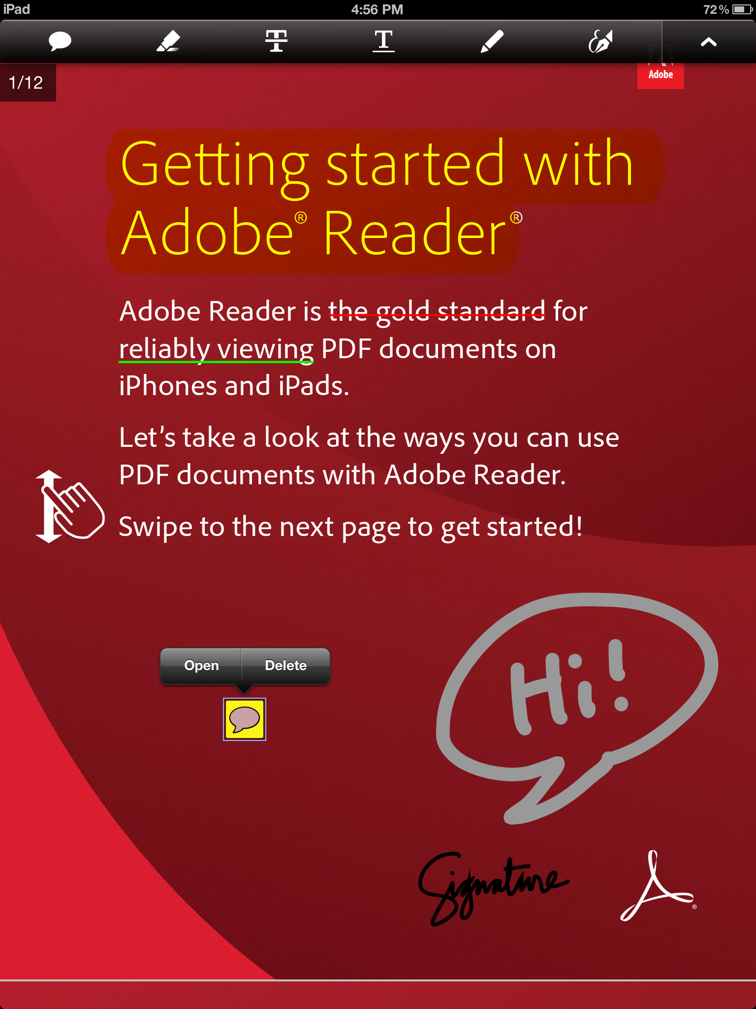 Adobe Reader For iOS Update Adds Annotation Tools And More Features