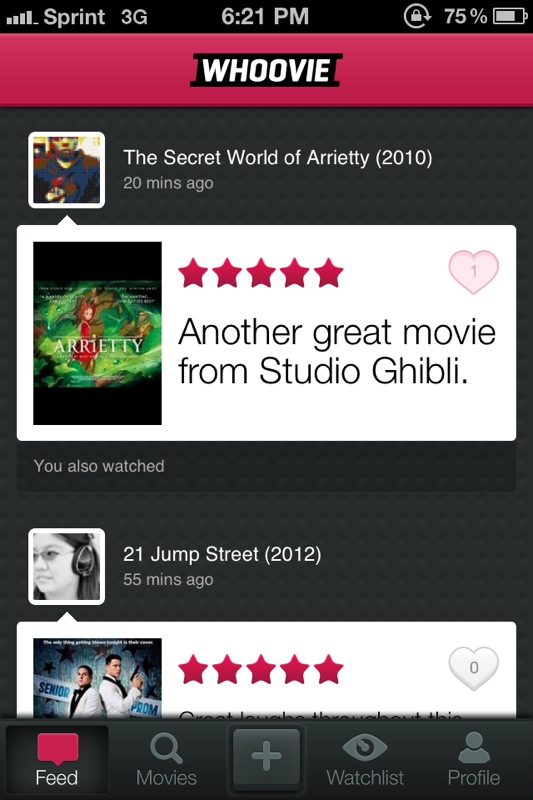 Whoovie Allows You To Review And Share Your Thoughts On Movies With Friends