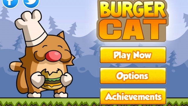 Help Burger Cat Get His 'Om Nom Nom' On