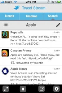TweetStream - A Realtime Twitter client by Rivolu Pte Ltd screenshot