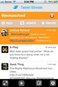 TweetStream - A Realtime Twitter client by Rivolu Pte Ltd screenshot