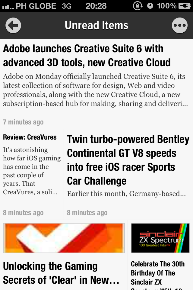 Newsify Delivers Your Feed Subscriptions, Newspaper-Style