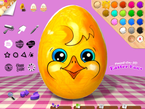 Why Wait For The Easter Bunny When You Have Paint-On-3D Easter Eggs For iPad?