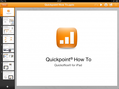 Quickoffice Pro HD Adds Editing Capability For Microsoft PowerPoint PPTX Files