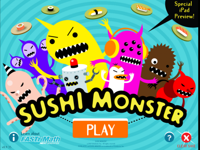 Math Plus Fun Equals Sushi Monster!