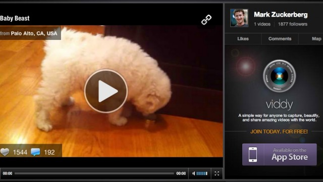 Mark Zuckerberg Signs Up For Viddy, Otherwise Known As 'Instagram For Video'