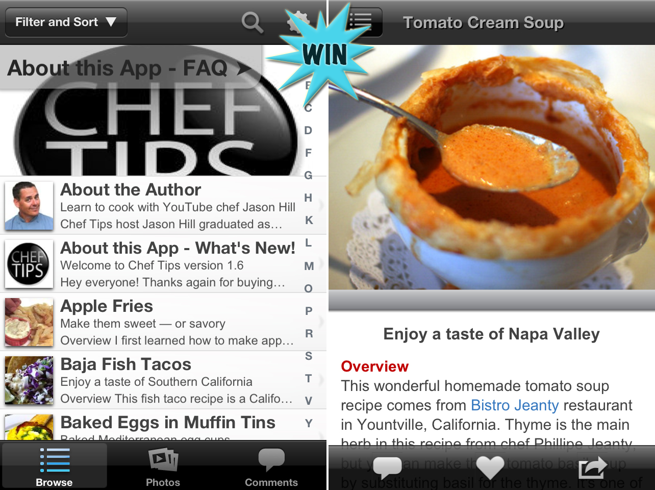 A Chance To Win Video Recipes: Chef Tips With Jason Hill For iPhone And iPad