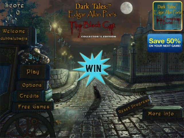 A Chance To Win The Full Version Of Edgar Allan Poe's The Black Cat: Dark Tales Collector's Edition HD