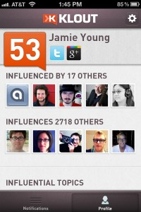 Klout Goes Mobile With New iPhone App