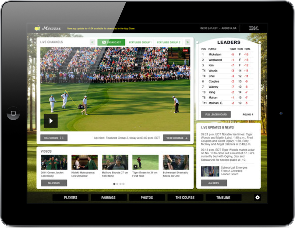 Live From Augusta National: The Masters Via The iPad