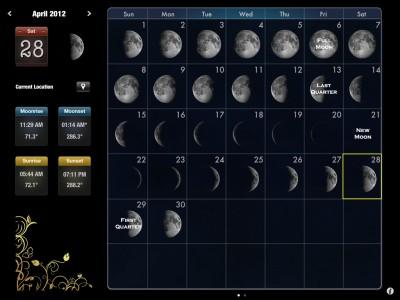 Rivolu Enhances And Expands The iPad User Interface Of Moon Calendar