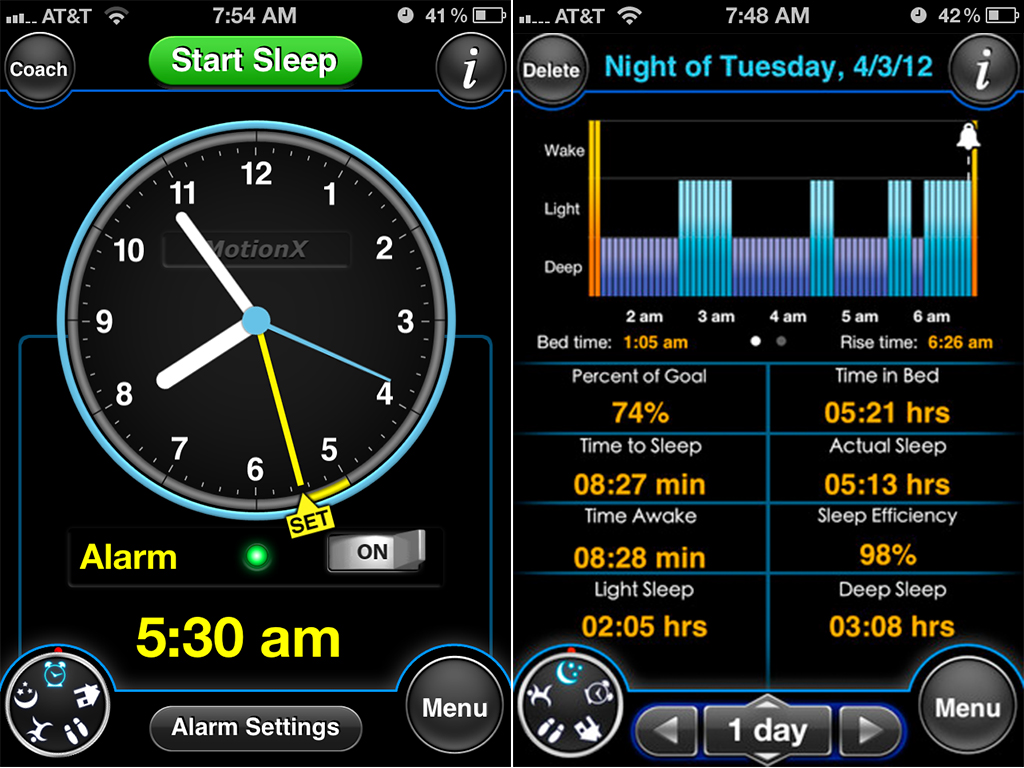 MotionX Sleep v2.0 Improves The Alarm, Reports, Accuracy, And More