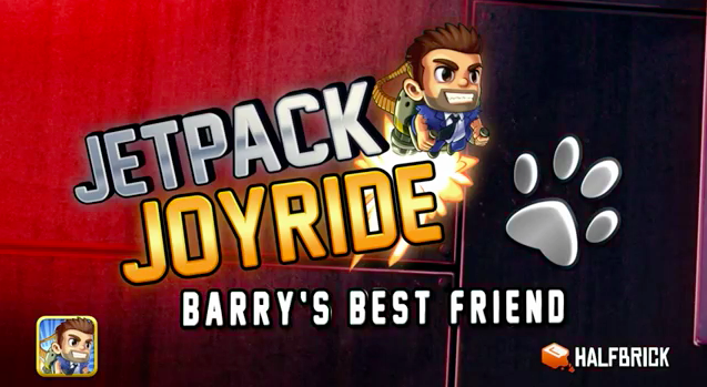 Jetpack Joyride Welcomes New Cash-Collecting Canine Character