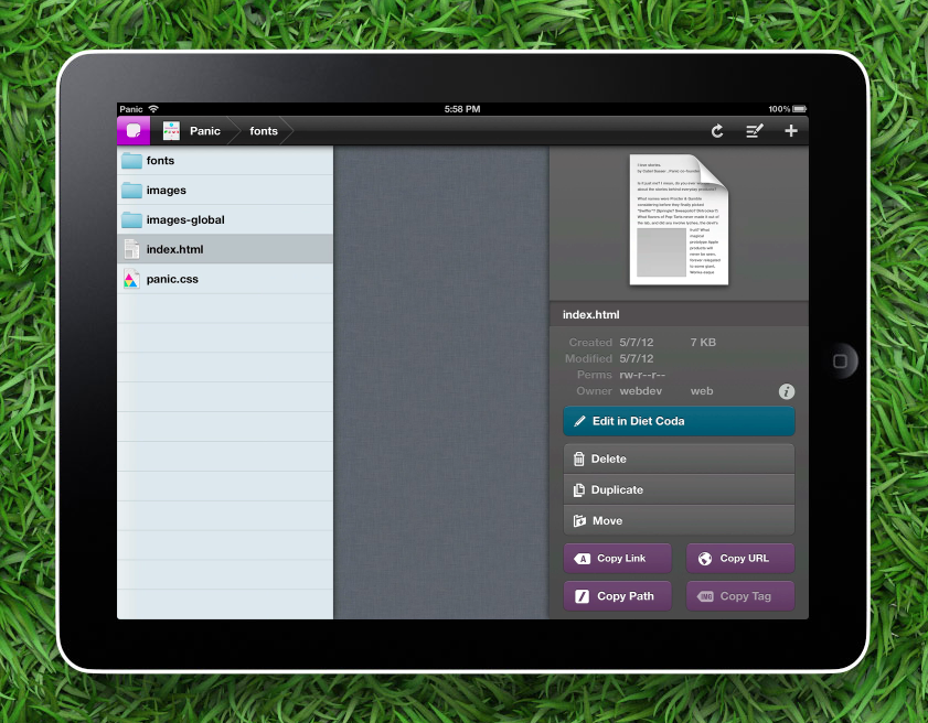 From Sugar-Free To PC-Free, Panic Releases Coda 2 For Mac And Diet Coda For iPad