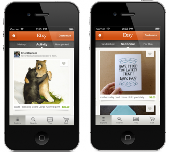 Etsy For iPhone Updated With New Activity Feed, Treasury Search, Etc.