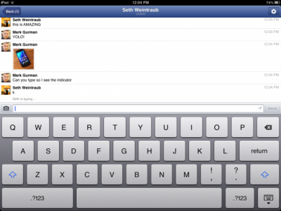 Upcoming Facebook Messenger For iPad App Screenshots Hit The Web