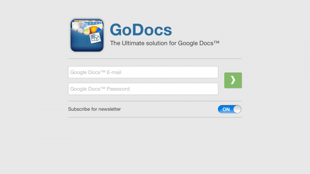 GoDocs For Google Docs Updated With Retina iPad Graphics, Google Drive Support And More
