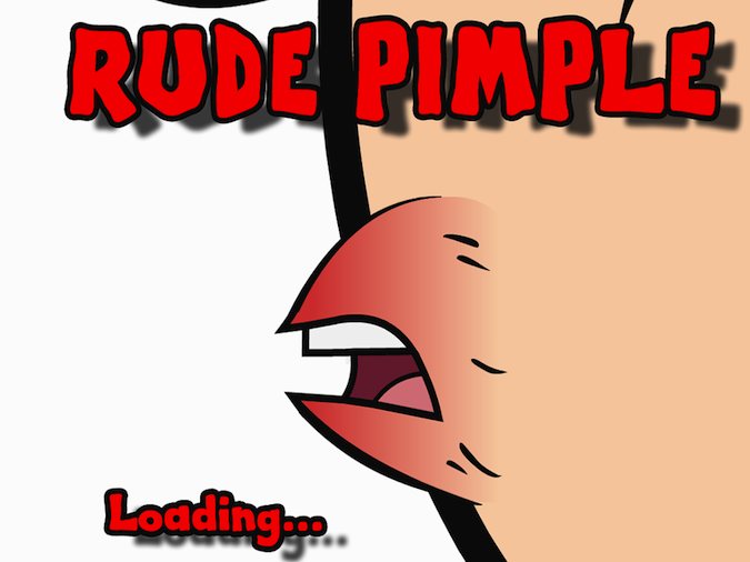 Quirky App Of The Day: Rude Pimple