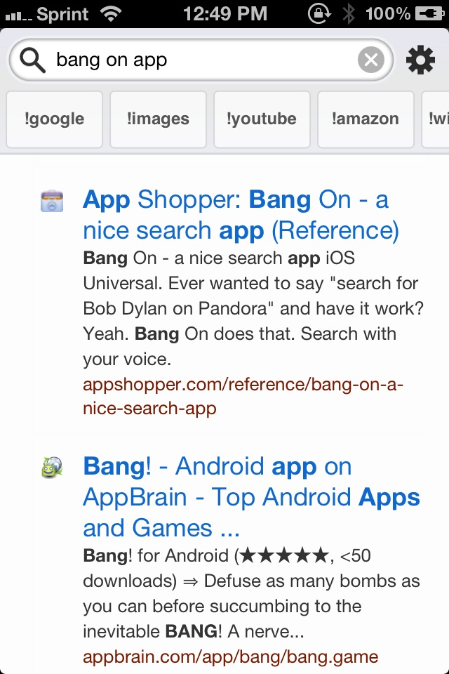 Bang On Is The Launch Center For Search On Your iPhone And iPad