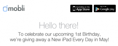 Photo And Video App Mobli Is Giving Away A New iPad Every Day In May!