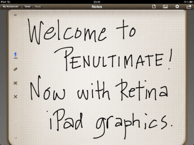 Penultimate Gains Ultimate Update For The New iPad's Retina Display