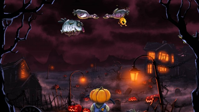Play As An Overall-Wearing Arrow-Slinging Pumpkin In Shoot the Zombirds