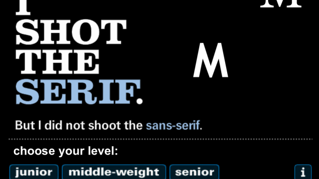 Shoot The Serif Aims To Engage Interest Of Typography Sheriffs And Deputies