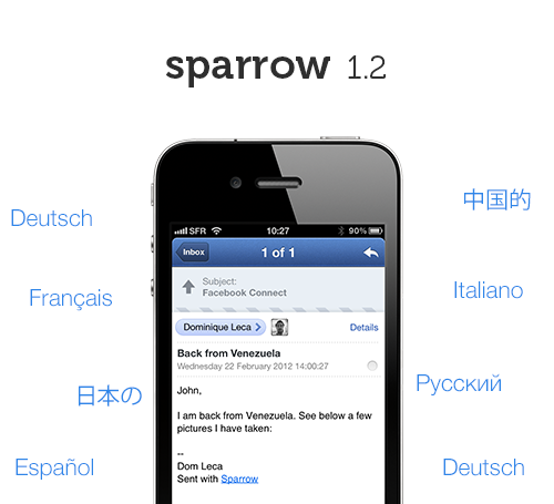 Sparrow Updated Again, But Apple Refuses To Allow Push Support