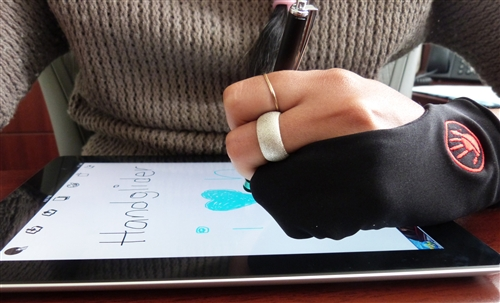 The Hand Glider Eliminates Accidental Wrist Input When Using A Stylus